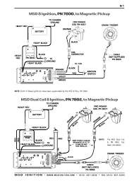 msd ignition wiring diagrams msd 8 series dual coil to magnetic pickup