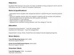 Resume Sample First Job Format For Job Cna Samples Photo