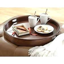 wood ottoman tray large round ottoman tray wood ottoman tray awesome glamorous round ottoman trays for