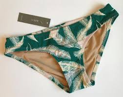 New Jcrew 44 Tropical Fern Surf Hipster Bikini Bottom Size