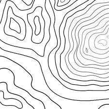 Print En Kleur Topografie Kaart Downloadbare Kleurplaat Etsy