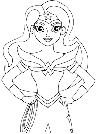 girl superhero coloring pages free 18 5 dc