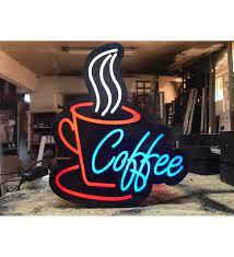 Coffee Yazılı Tabela 3D Led Neon Etkili Işıklı Tabela 30X45 CM Tek Taraflı