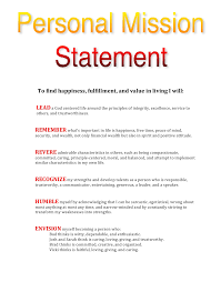 Mission Statement Example Personal Mission Statement Template Askoverflow