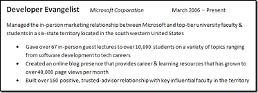 Achievements On A Resumes How To Get A Job At Microsoft Part Ii Writing An Awesome Resume