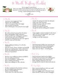 Ivy Ellen S 18 Month Wedding Checklist Great To Print Save Or