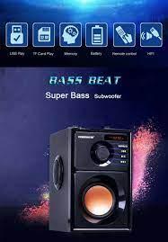 Büyük Güç Bluetooth Hoparlör Kablosuz Stereo Subwoofer Ağır Bas Hoparlörler Müzik  Çalar Desteği Lcd Ekran Fm
