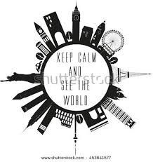 Black And White Quotes Stunning Travel Globe Black White Quote Stock Illustration 48