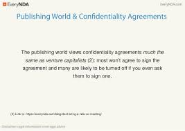 Confidentiality Agreement For Writers And Authors