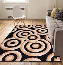 cyber monday area rugs 2017 elegant bright rings black modern abstract geometric circles 3 x