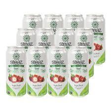 Steaz Lightly Sweetened Green Tea Steaz Lightly Sweetened Iced Green Tea Super Fruit 12 Can S