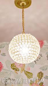 diy crystal ball chandelier tutorial