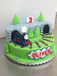 Thomas The Tank Engine Cake Birthday Boy Bolos De Trem Bolo