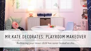 Interior Design Diy Mr Kate Decorates Playroom Makeover Pillowfort Home Decor