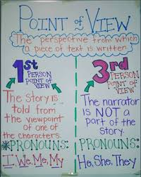 Cute First And Third Person Points Of View Anchor Chart