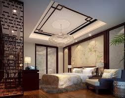 elegant furniture and lighting. Interior:Chinese Style Bedroom Interior Design Idea With Elegant Chandelier Lighting Decorating Modern Asian Furniture And