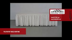 polyester banquet round table skirting