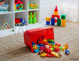 fotografía children s playroom with plastic colorful educational blocks toys europosters es