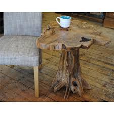 timur unique recycled teak wood mushroom style coffee table lamp table