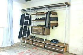 industrial pipe shelving closet d i y clothing rack made from plumbing s pipe clothes closet rod industrial