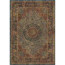 monroe traditional blue 8 ft x 11 ft area rug