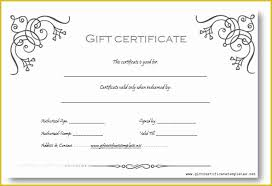 Microsoft Word Gift Certificate Template Free Gift Certificate Template Word Of Gift Certificate