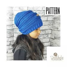 Hipster Beanie Crochet Pattern New Crochet PATTERN Ribbed Slouchy Beanie Crochet Pattern