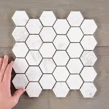 white marble tile pattern. Fine White Hexagon White Marble Tile Inside Pattern L