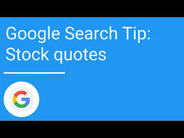 Stock Quotes Google Enchanting Google Search Tip Stock Quotes YouTube