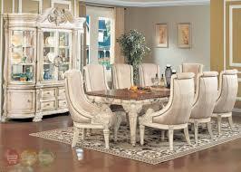 white dining room set formal. Modern Antique White Dining Room Sets Halyn Formal Set With Extension Leaf 2 E