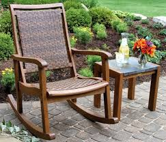 best patio rocking chairs eucalyptus and wicker outdoor rocker chair by vineyard