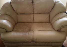 leather sofa cleaning before after