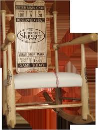 custom rocking chairs awesome original custom made genuine baseball bat rocking chairs beautiful