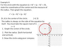 10 8 equations of circles 1 write the equation a circle 2