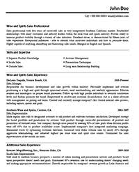 Before Version of Resume, Sample Sales Resume