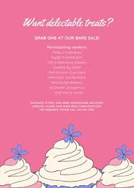 Bake Sale Flyer Templates Free Cream Cupcake Bake Sale Flyer Templates By Canva