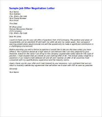 how to negotiate an offer letter salary negotiation letter 4 free word documents download free