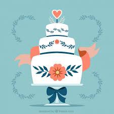 Floral Wedding Cake Vector Free Download