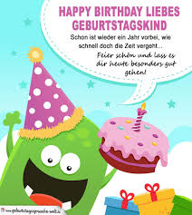 Happy Birthday Liebes Geburtstagskind Bunte Karte Auch Für Kinder