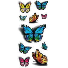 Amazoncom Tafly 3d Colorful Butterfly Body Art Temporary Tattoos