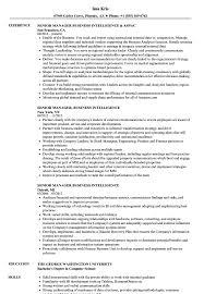 Business Intelligence Sample Resume Senior Manager Business Intelligence Resume Samples Velvet Jobs 14