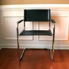 mid century modern chair leather chrome italian tubular leather and chrome chairs