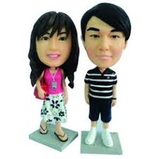 personalized wedding cake toppers can even include a background of Wedding Cake Toppers Brisbane Queensland $179 95 personalised wedding cake topper www minikinmania com minikinmania customcaketoppers bobbleheads Romantic Wedding Cake Toppers
