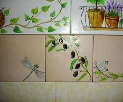 hand painted ceramic tile simple ceramic tile painting ideas adding artworks to interior decorating hand painted