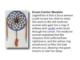 Dream Catchers Legend Magnificent Dream Catcher Mandala Legend Has It That A Sioux Woman Could Not