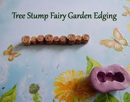 miniature tree stump edge silicone mold fondant chocolate candy polymer clay craft fairy garden cake topper decorations gift