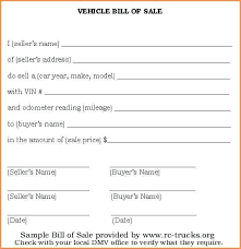 example of bill of sale vehicle sale receipt protect both parties with bill of sale document