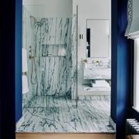 Comfy farmhouse bathroom decor ideas with rustic style Master Bathroom Blue And Marble Decoratrendcom Bathroom Ideas Designs Inspiration Pictures House Garden
