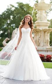 elegant a line bridal gown wedding dresses stella york