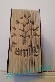 family tree cut and fold book art pattern merement style not graph image